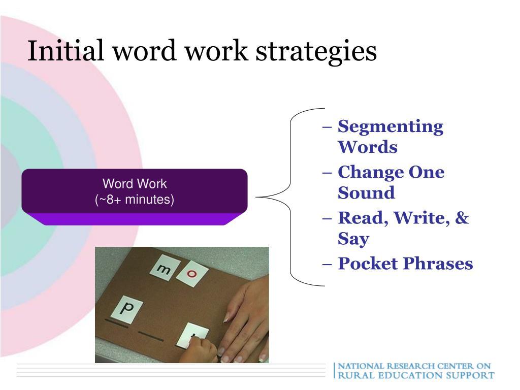 Initial word work strategies