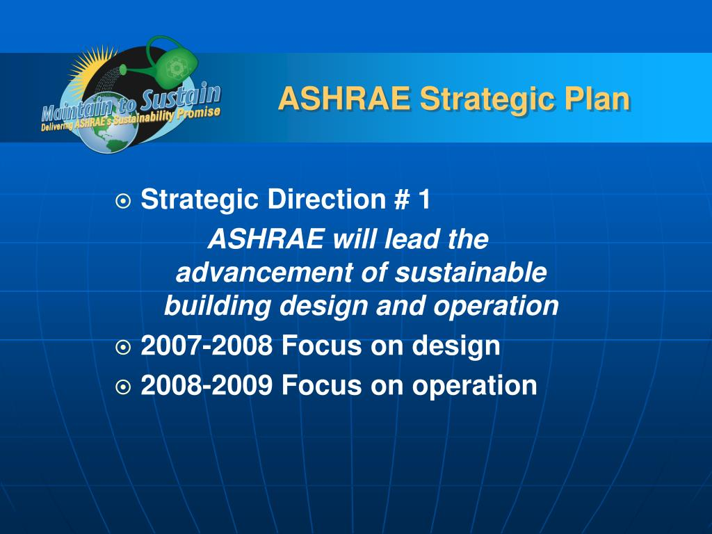 ASHRAE Strategic Plan