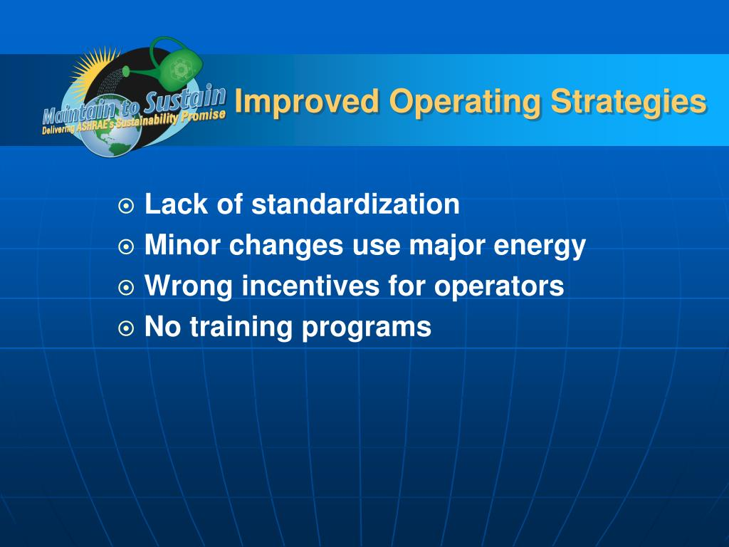 Improved Operating Strategies