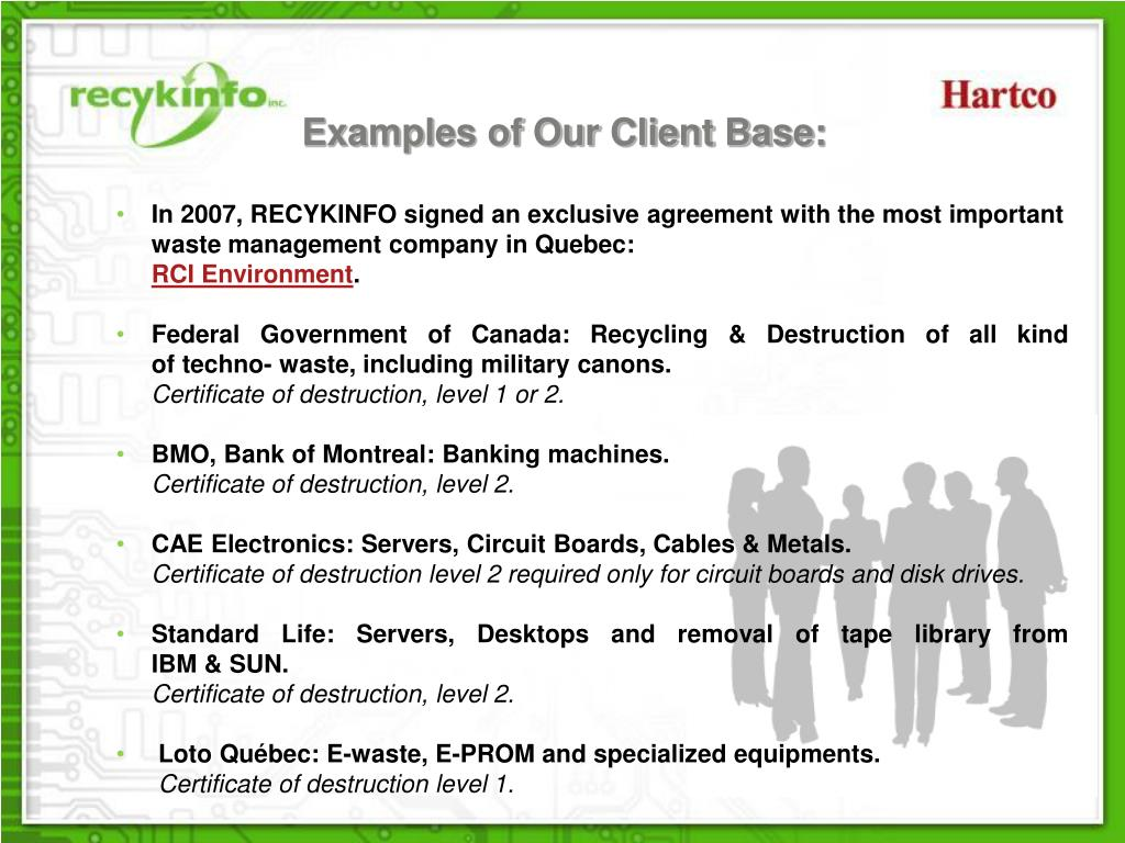 Examples of Our Client Base: