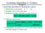 learning algorithm 2 centers