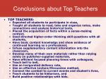 conclusions about top teachers