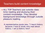 teachers build content knowledge