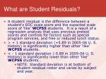 what are student residuals
