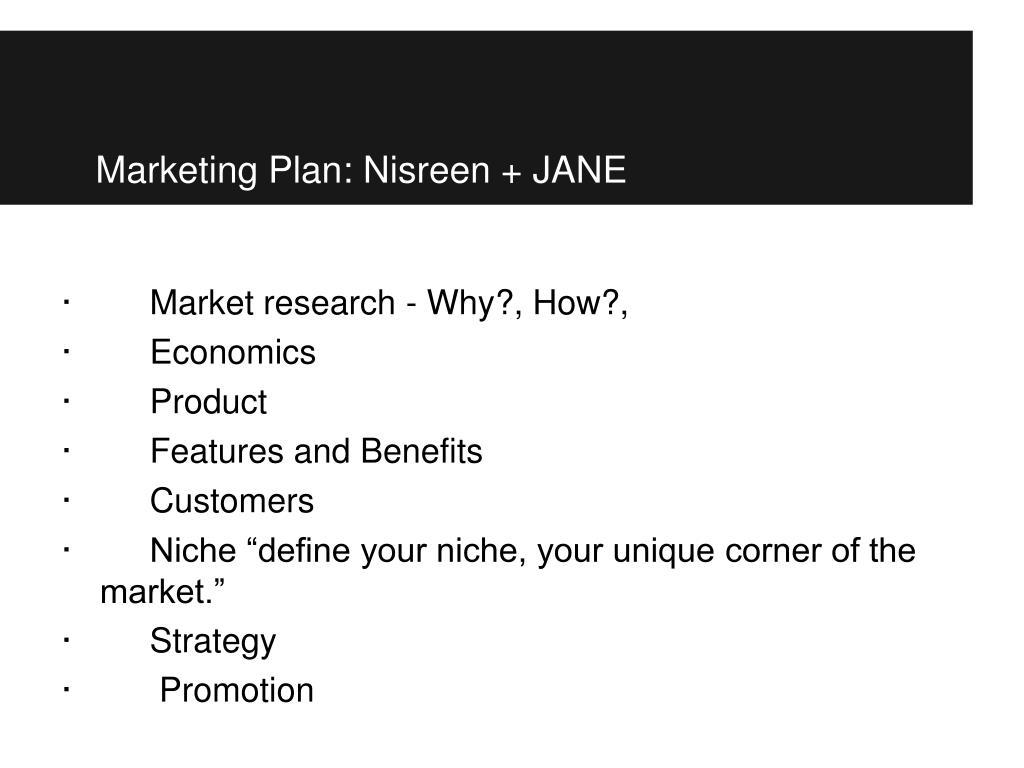 Marketing Plan: Nisreen + JANE