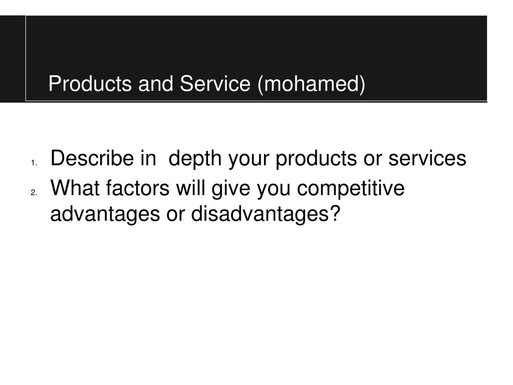 Products and Service (mohamed)
