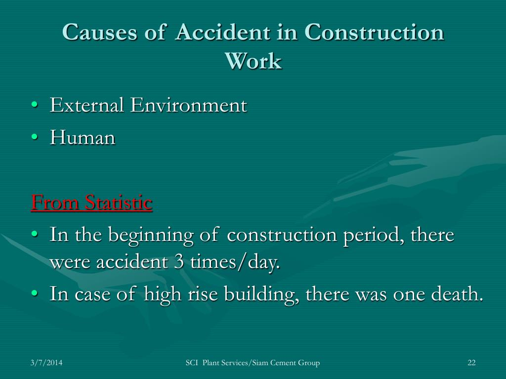 Causes of Accident in Construction Work