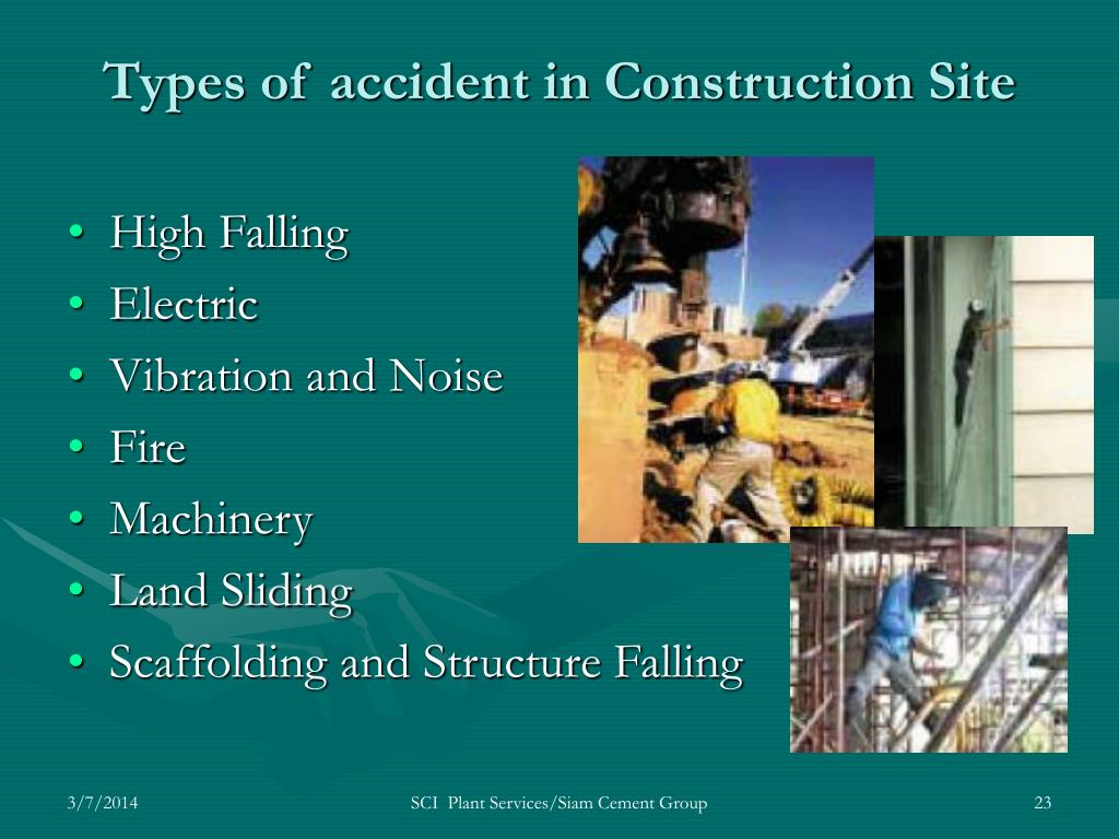 Types of accident in Construction Site
