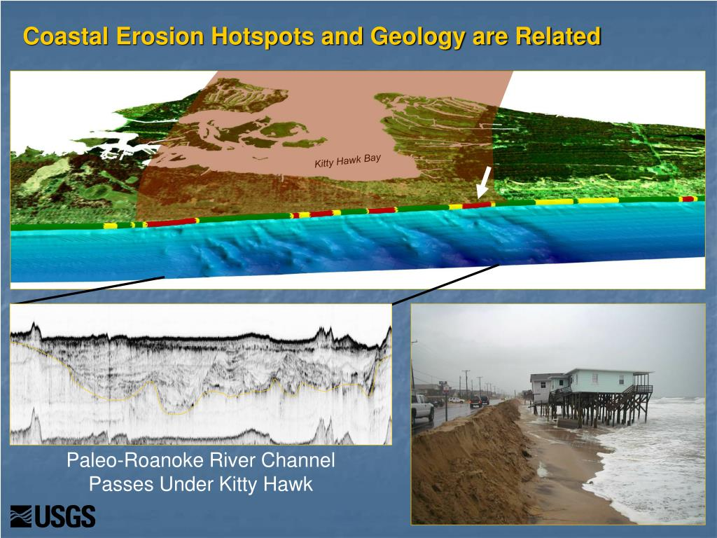 Coastal Erosion Hotspots and Geology are Related