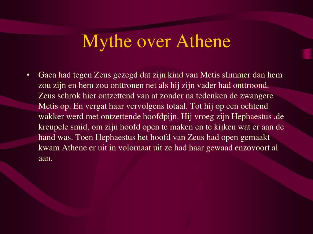 Mythe over Athene