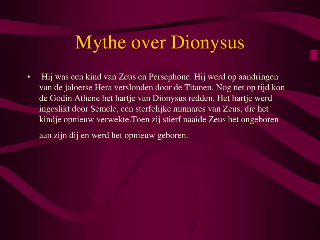 Mythe over Dionysus