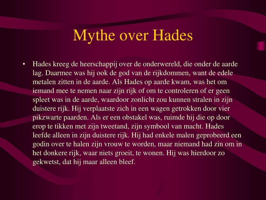 Mythe over Hades
