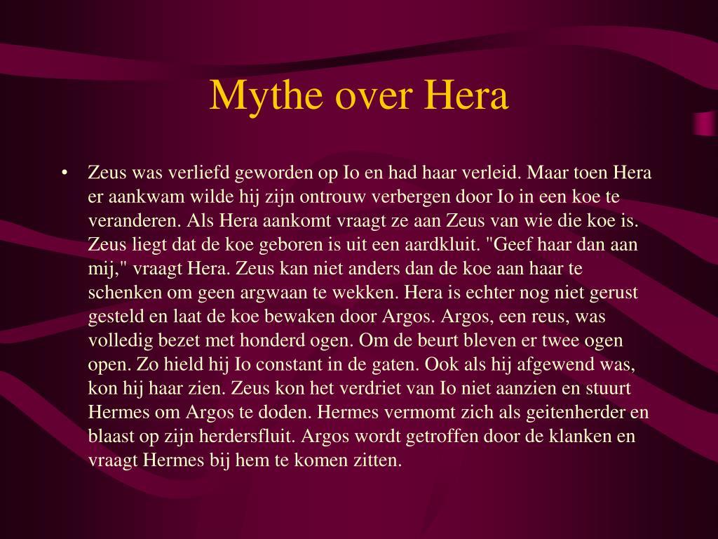 Mythe over Hera