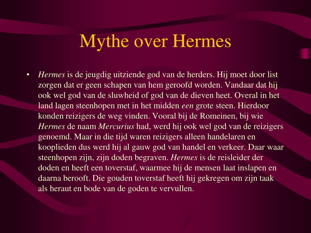 Mythe over Hermes