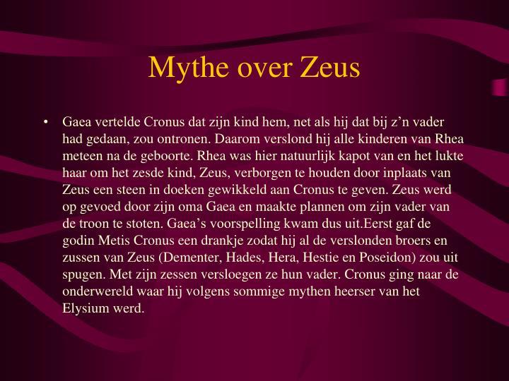 Mythe over zeus