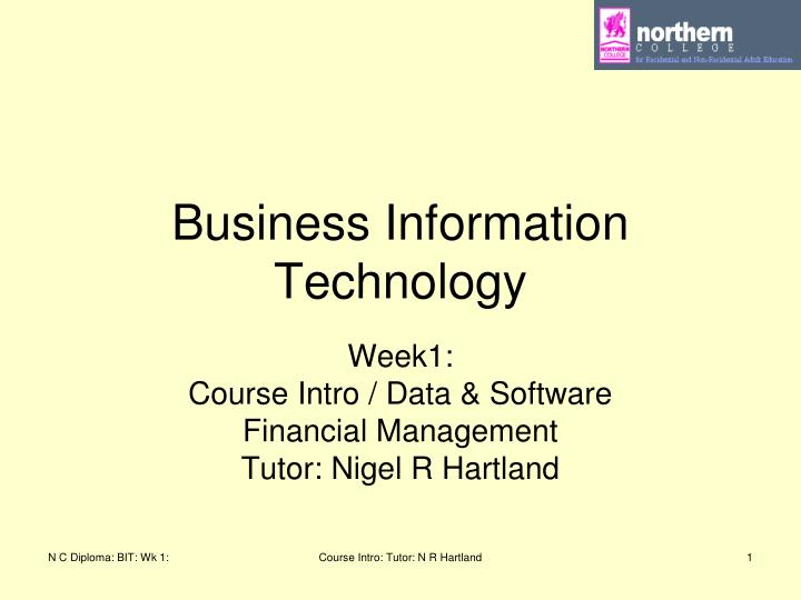 business information technology n.