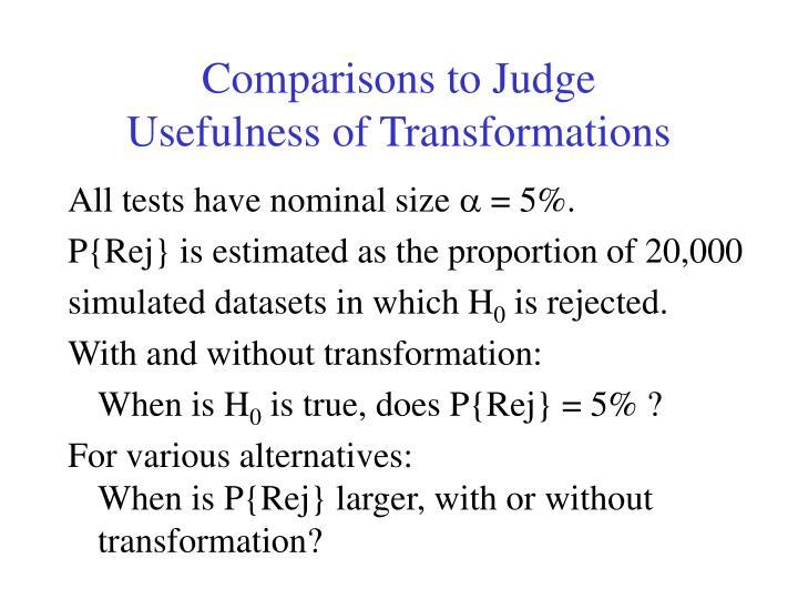 Comparisons to Judge