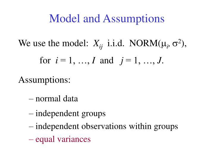 Model and Assumptions