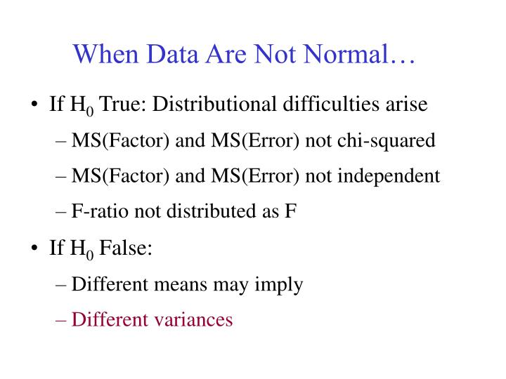 When Data Are Not Normal…
