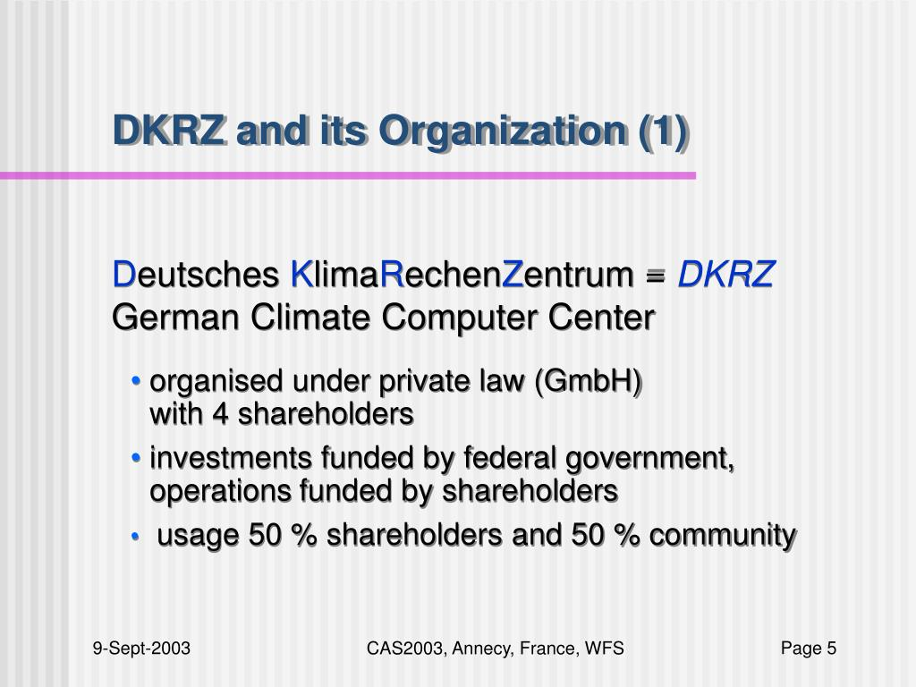 DKRZ and its Organization (1)