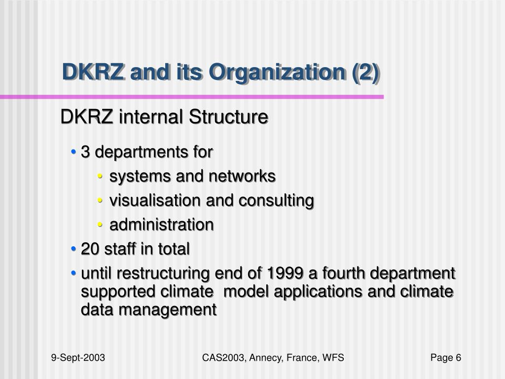DKRZ and its Organization (2)