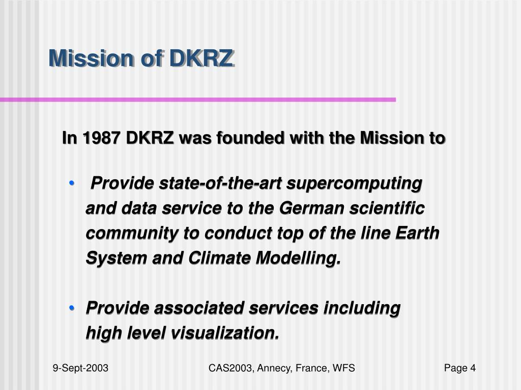 Mission of DKRZ