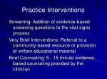 practice interventions