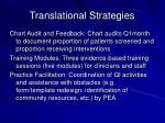 translational strategies