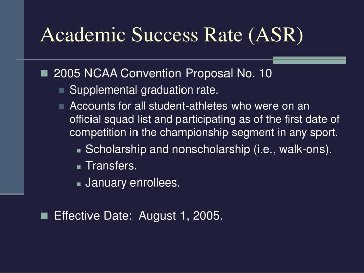 Academic success rate asr