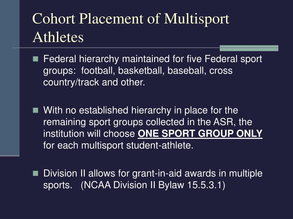 Cohort Placement of Multisport Athletes