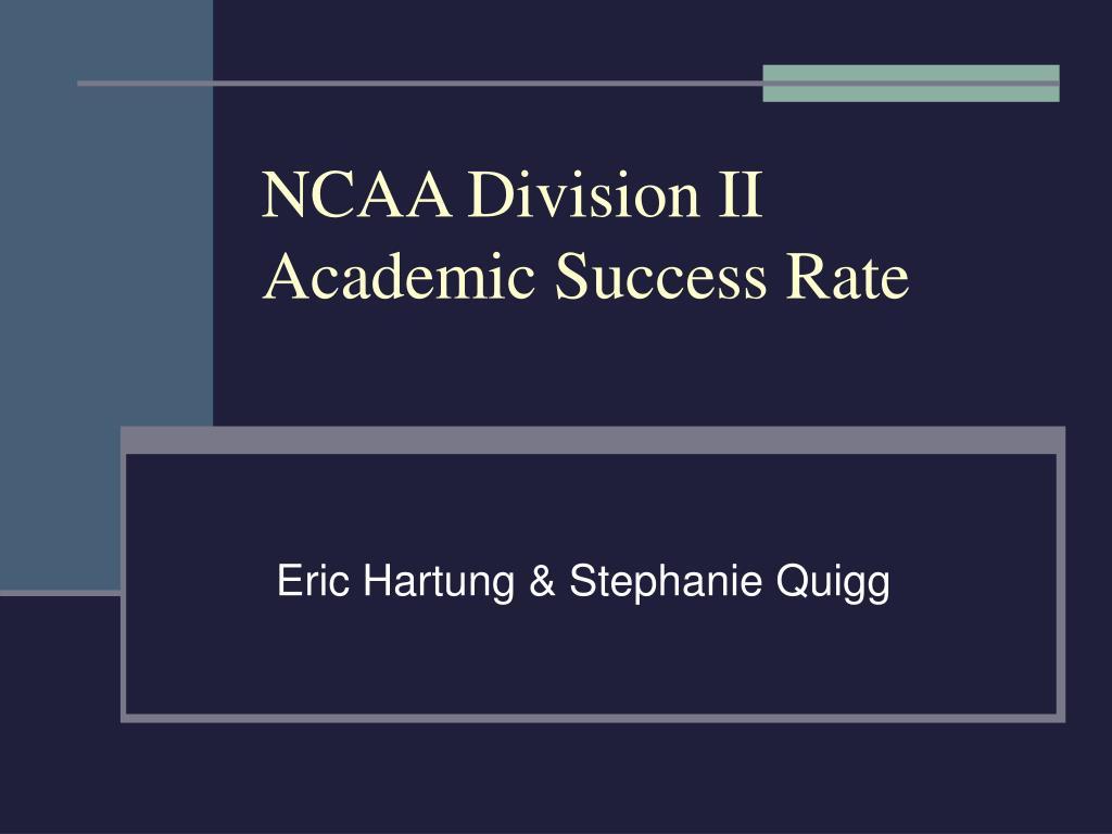NCAA Division II Academic Success Rate