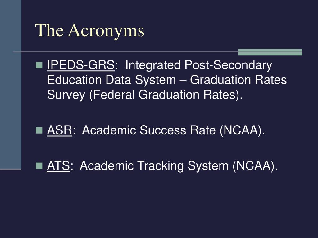 The Acronyms