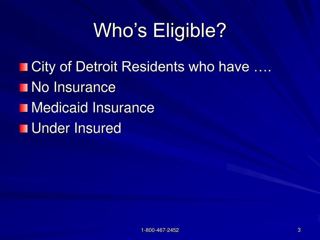 Who's Eligible?