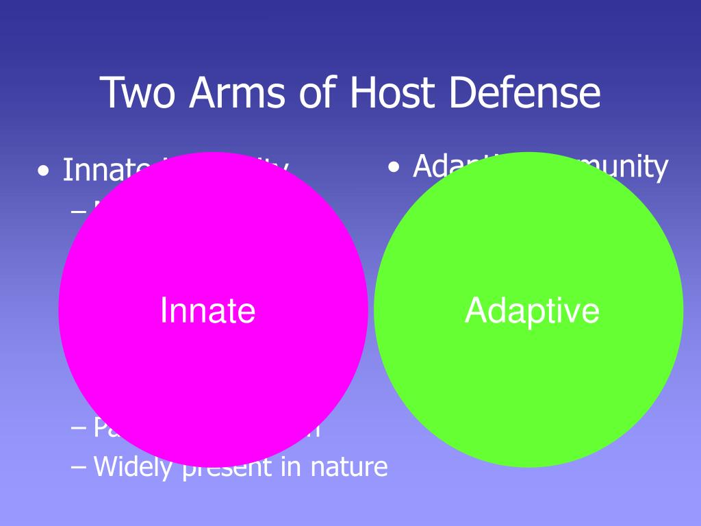 Two Arms of Host Defense