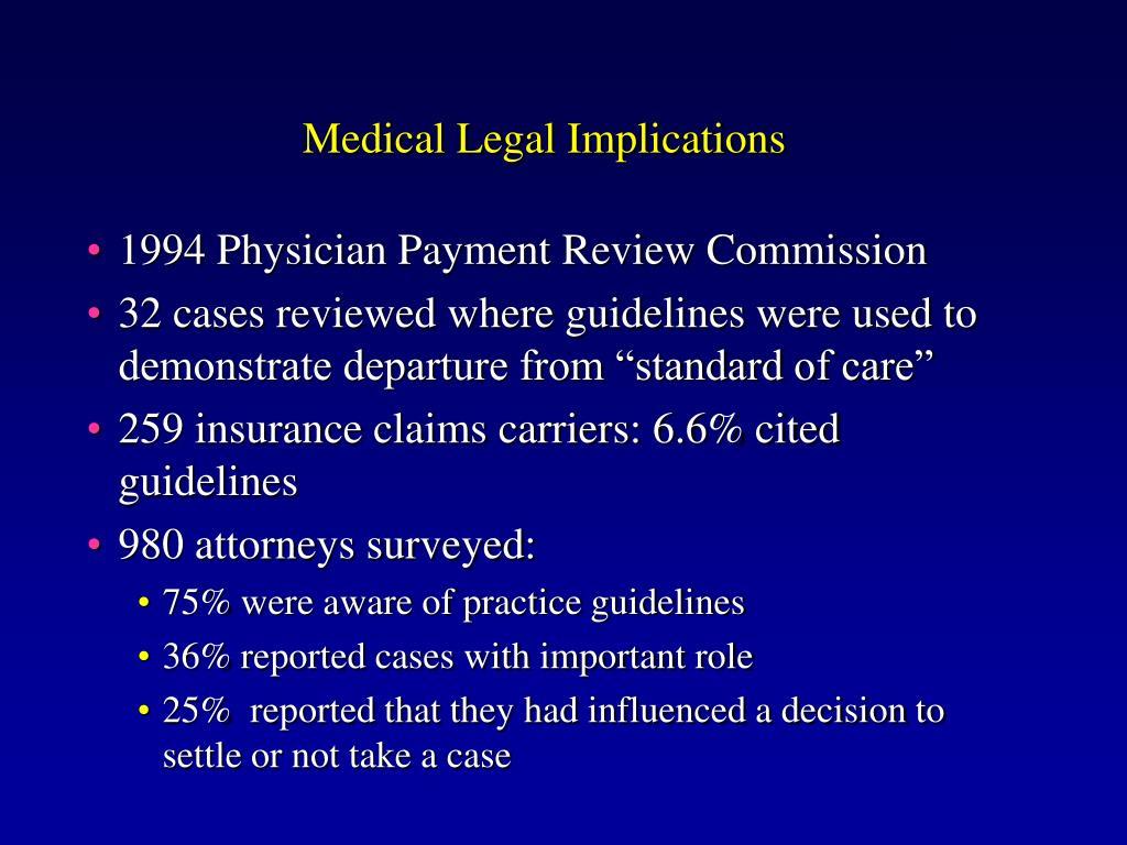 Medical Legal Implications