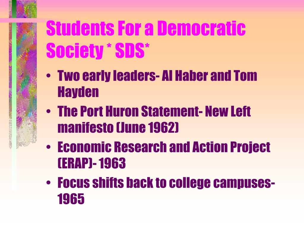 Students For a Democratic Society * SDS*