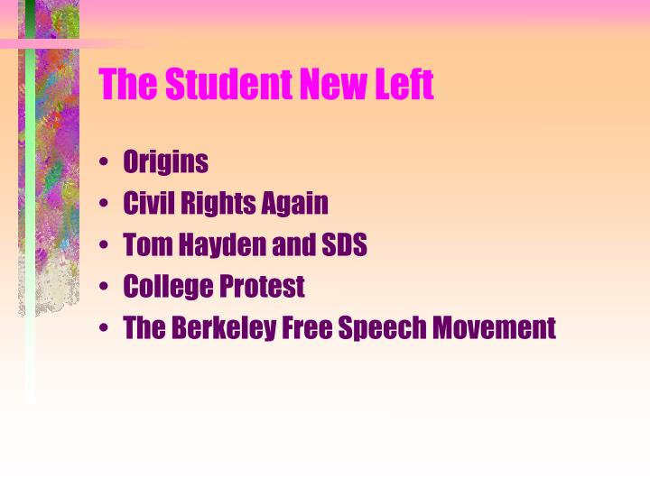 The student new left