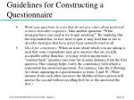 guidelines for constructing a questionnaire46