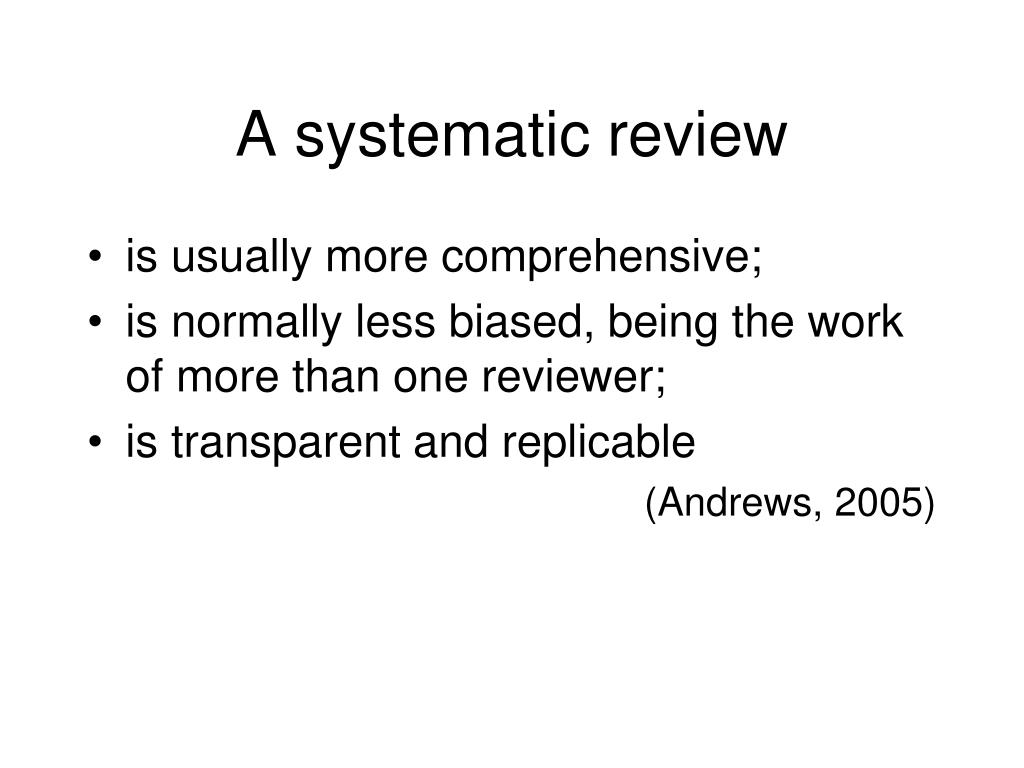 A systematic review