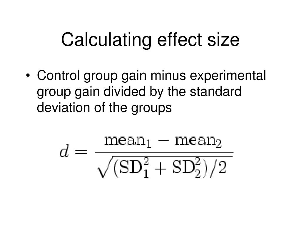 Calculating effect size