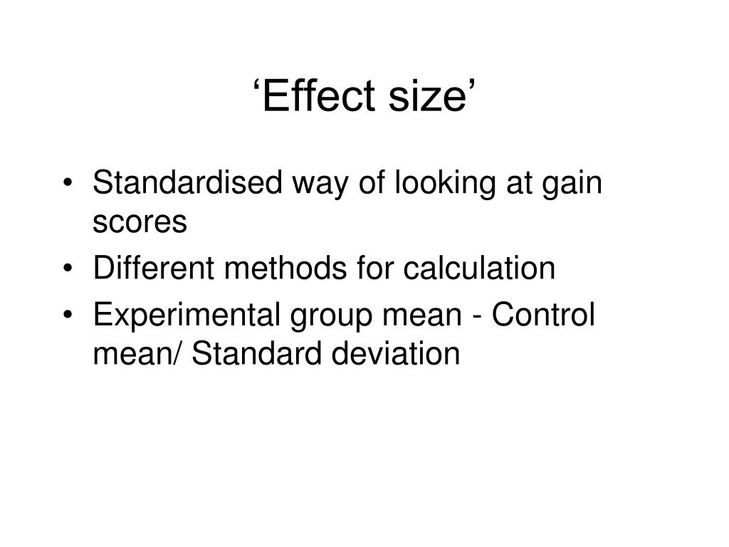 'Effect size'