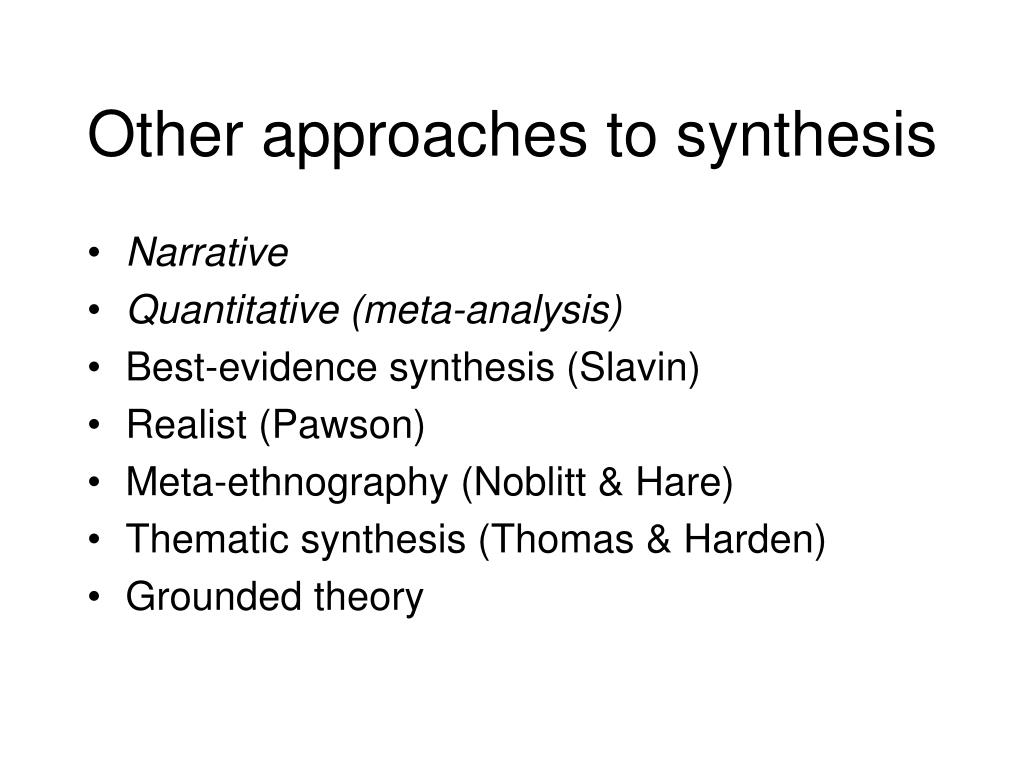 Other approaches to synthesis