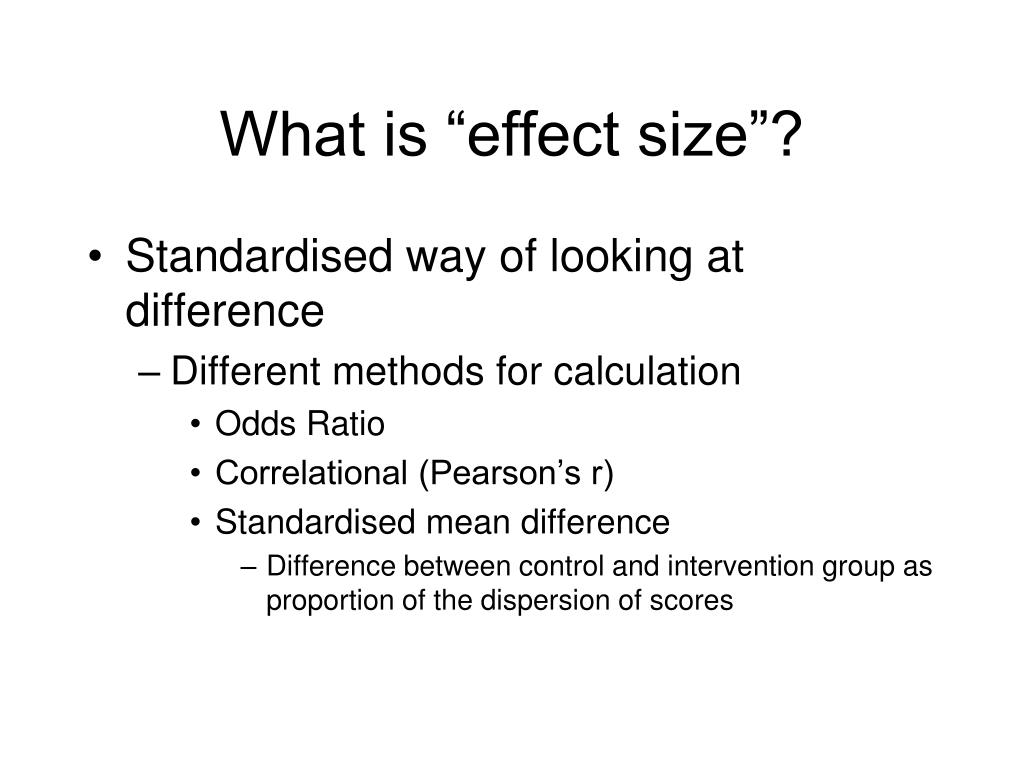 "What is ""effect size""?"
