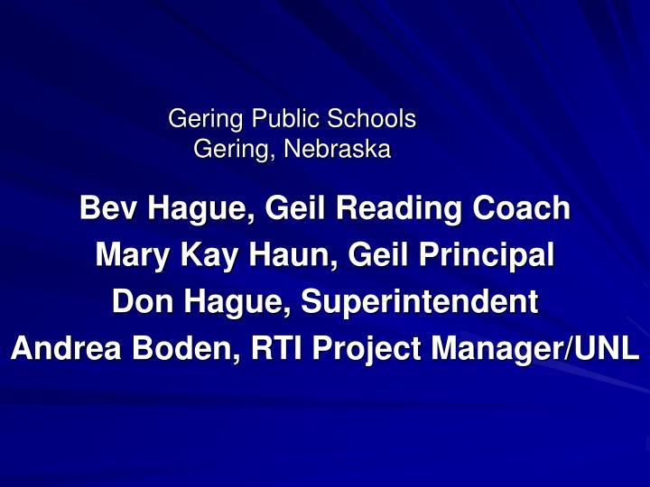Gering public schools gering nebraska