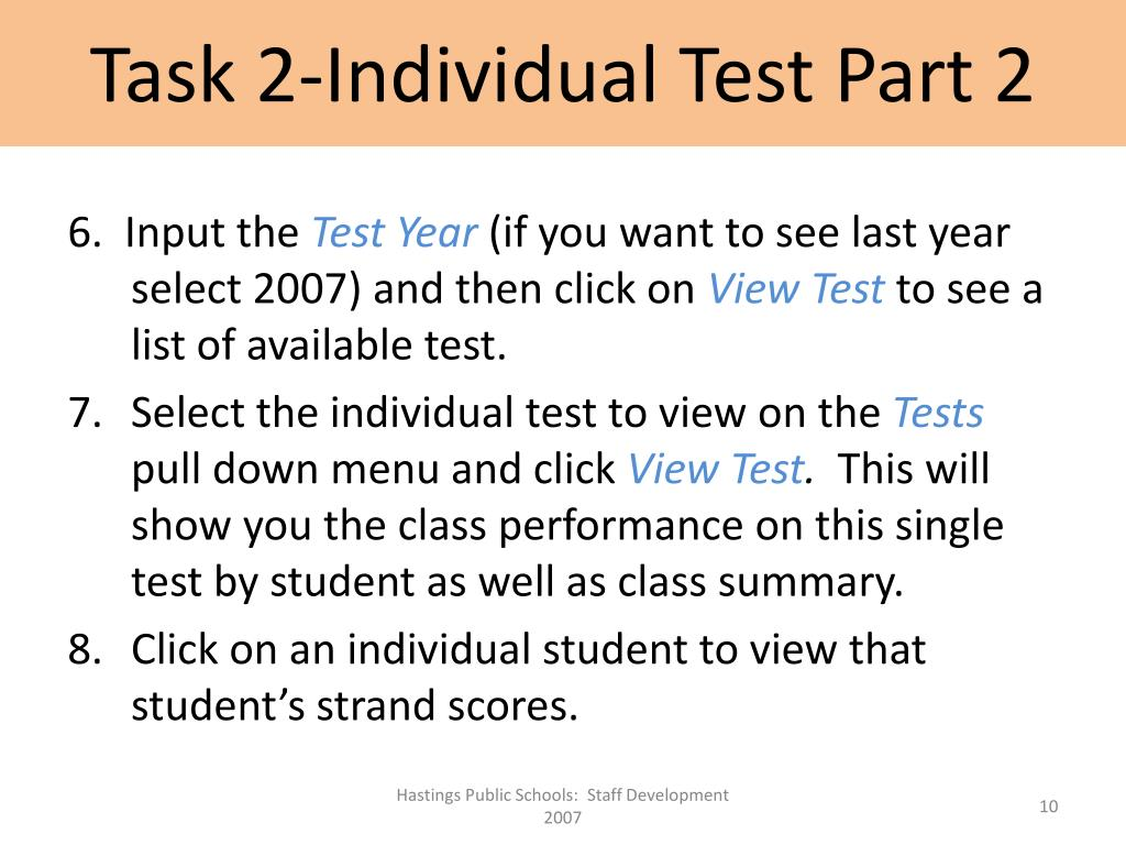 Task 2-Individual Test Part 2