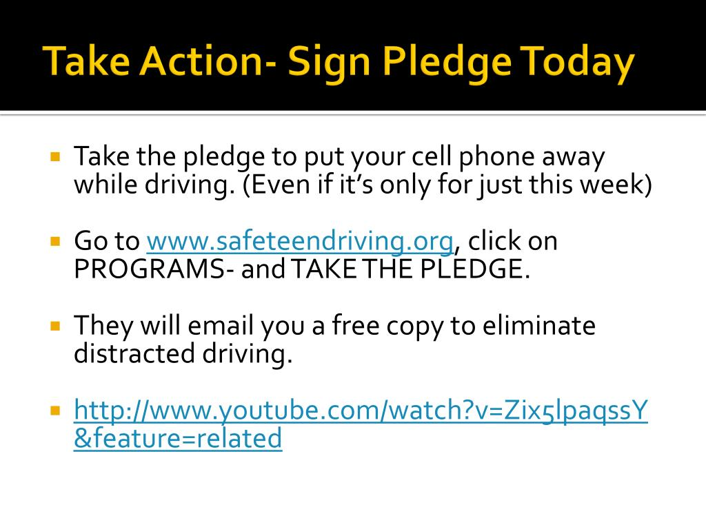 Take Action- Sign Pledge Today