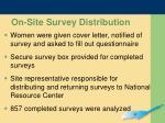 on site survey distribution
