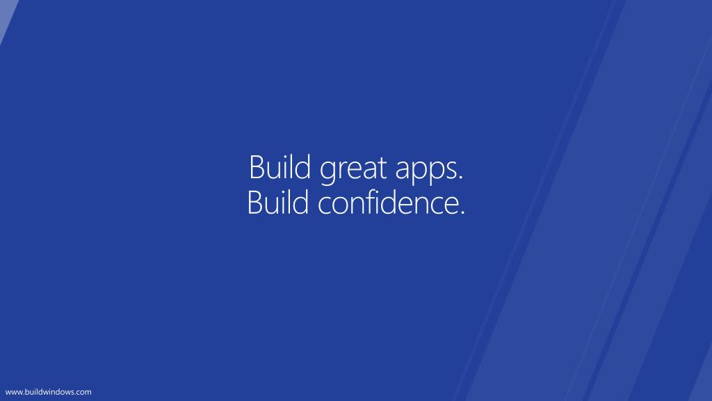 Build great apps.