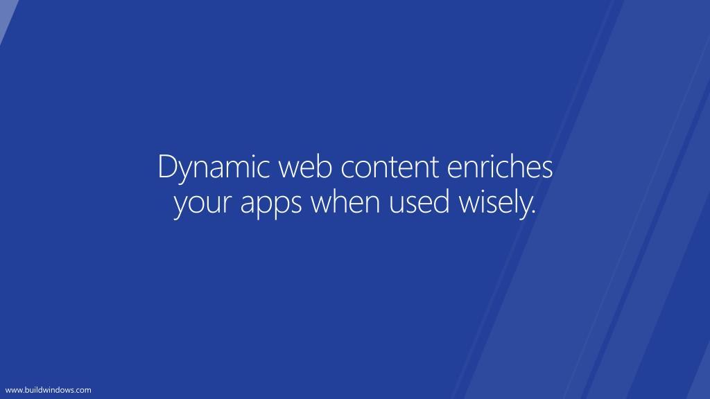 Dynamic web content enriches