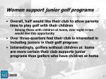 women support junior golf programs